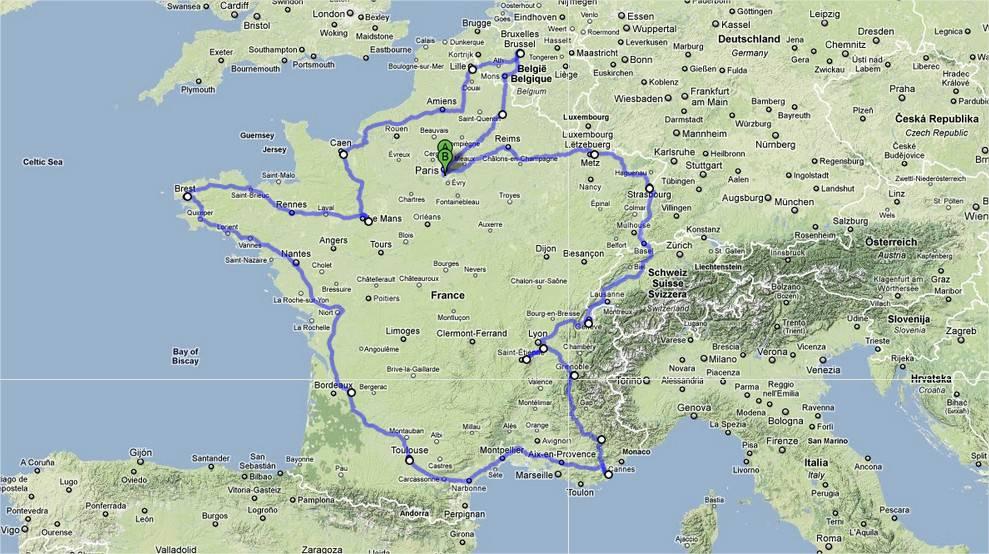 La carte du Ramadan Road Trip