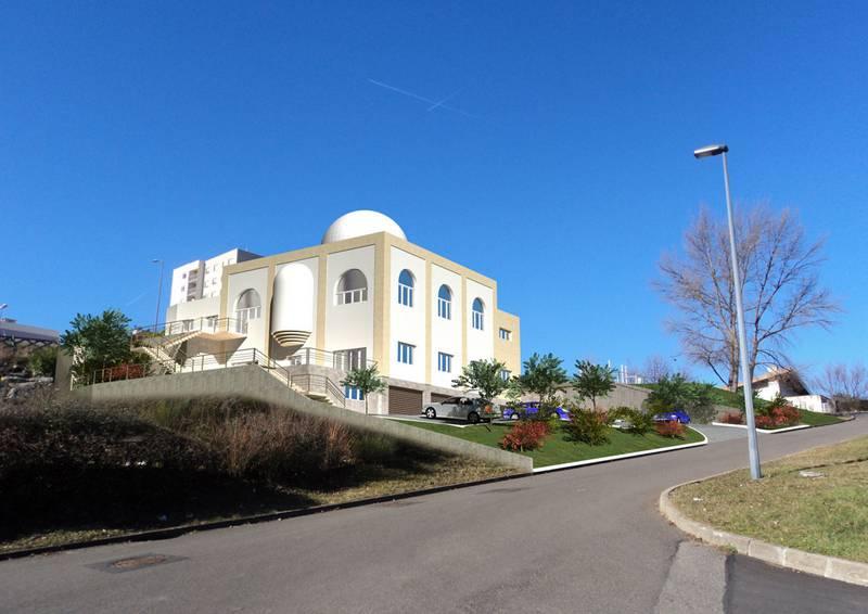 Nouvelle mosquée de Montreynaud maquette