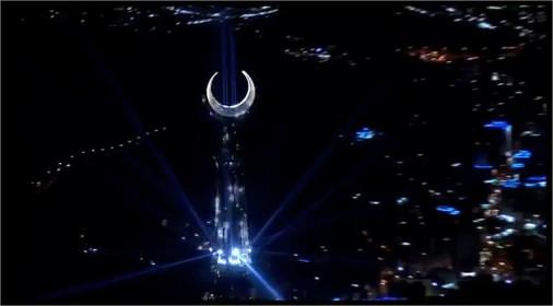 Mecca Clock Tower : vue d'hélicoptère