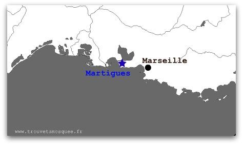 La carte Martigues Marseille