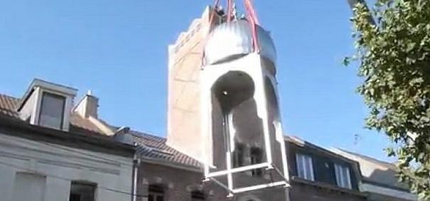Minaret de la mosquée Al Qods à Denain