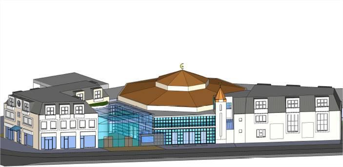 La maquette de la mosquée de Grigny