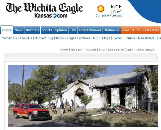 Mosquée brulée dans le Kansas – Etats-Unis