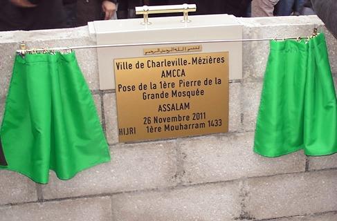 Première pierre de la mosquée de Charleville Mezieres