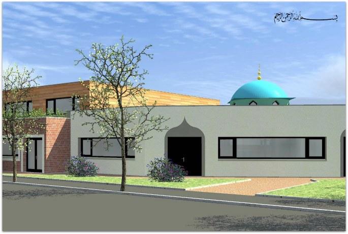 Maquette de la mosquée de Grande Synthe