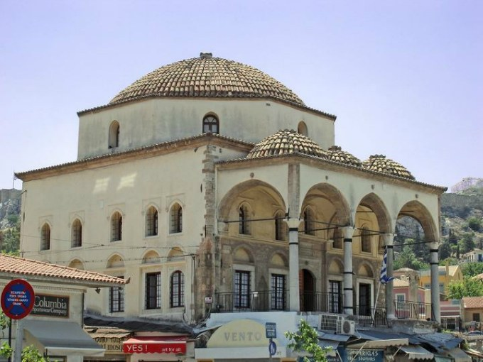 La mosquée Tzisdarakis à Monastiraki en Grèce