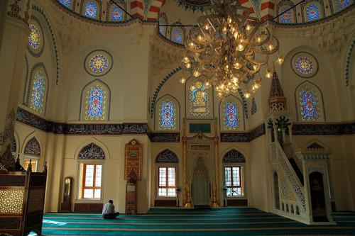 L'intérieur de la mosquée turque de Tokyo