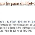 McDo du porc dans les pains du Filet-o-fish