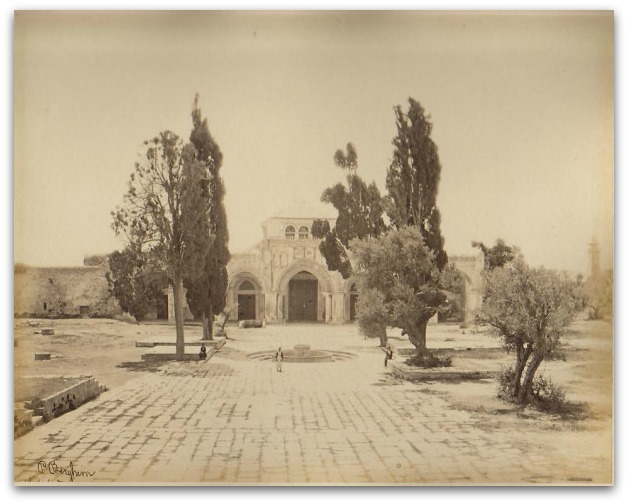 L'esplanade des mosquées en 1860