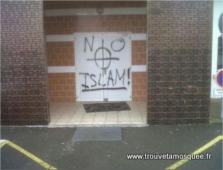 Islamophobie : mosquée des Glonnières (Le Mans) taguée