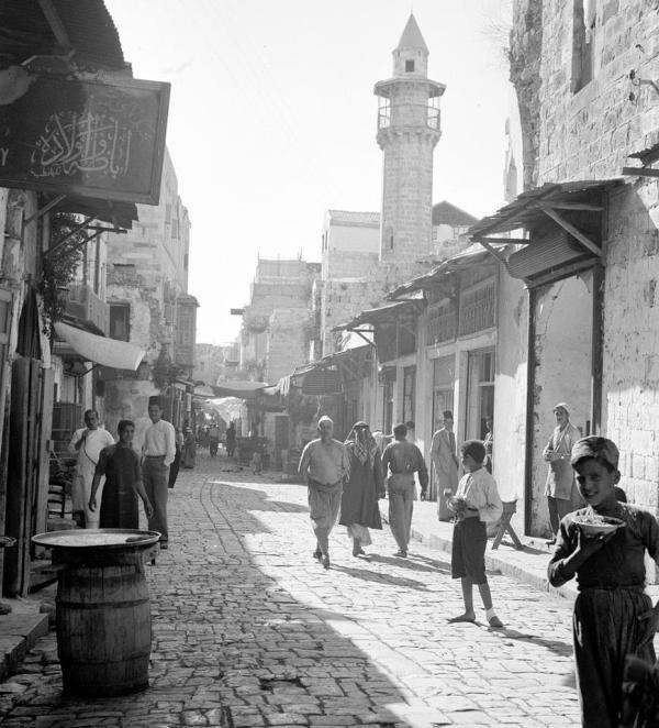 La mosquée de Naplouse en 1942