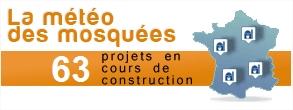 carte des projets de mosquée