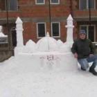 Mosquée Allah en neige