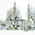 Une mosquée sous la neige en Algérie