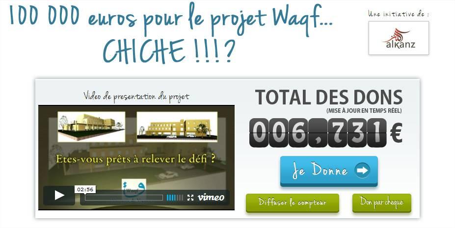 Capture du site projet Waqf