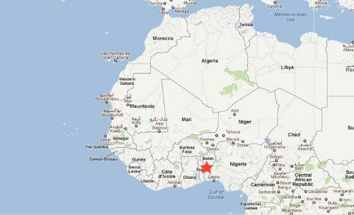 carte afrique benin
