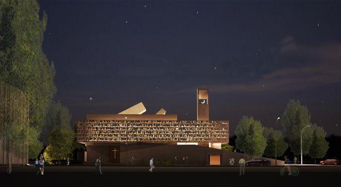 Maquette projet d'une mosquée-église en Syrie