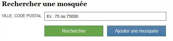 Module de recherche trouvetamosquee.fr