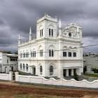 La grande mosquée blanche de Galle Sri Lanka