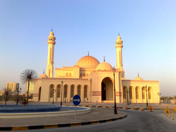 La grande mosquée El Fateh au Bahrein
