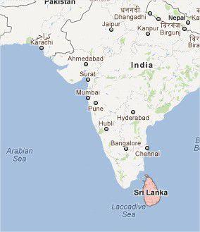 Sri Lanka au sud de l'Inde