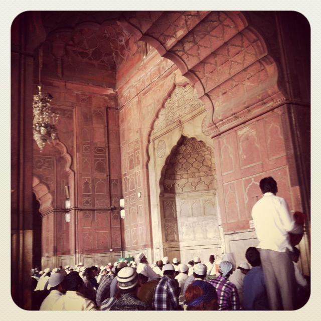 Mosquée Jama delhi intérieur