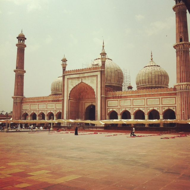 La mosquée Jama de New Delhi en Inde