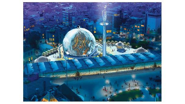 Nouvelle mosquée à Taksim