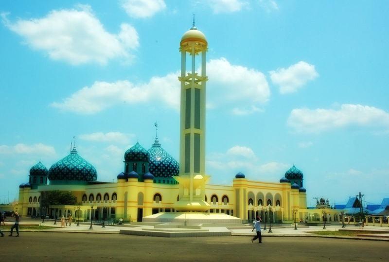 La mosquée de Martapura en Indonésie