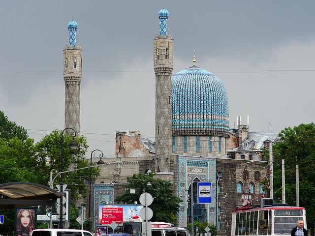 Une mosquée à Saint Pertesbourg en Russie