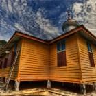 La mosquée jaune de l'île Pulau aur