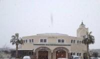 Un manteau blanc sur la mosquée de Béziers
