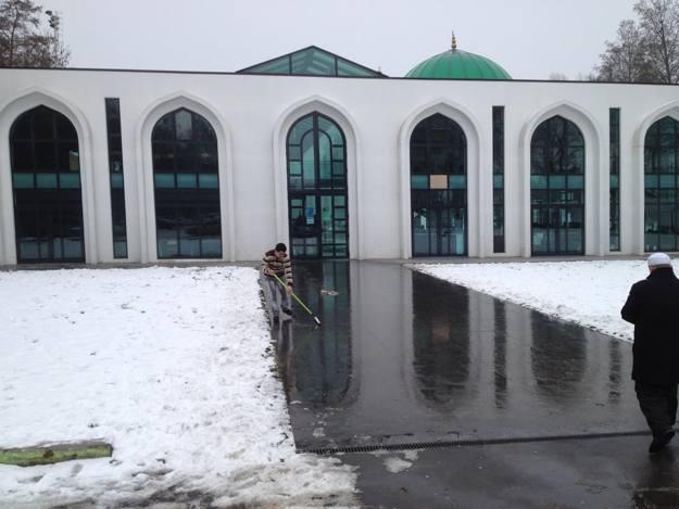 La mosquée de Villeuenve d'Ascq sous la neige