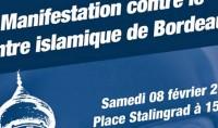 Manifestation du FN contre la future mosquée de Bordeaux