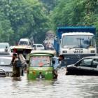 Inondation dans les rues de Lahore