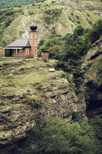 Mosquee dans les montagnes de Tchètchènie