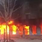 Une mosquée en suède incendiée