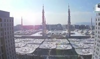 La mosquée de Médine vue d'un drône